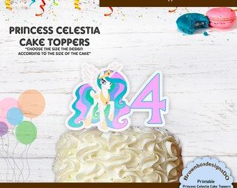 PRINCESS PALACE PETS PINK HAPPY BIRTHDAY 7.5 INCH PRECUT EDIBLE CAKE TOPPER