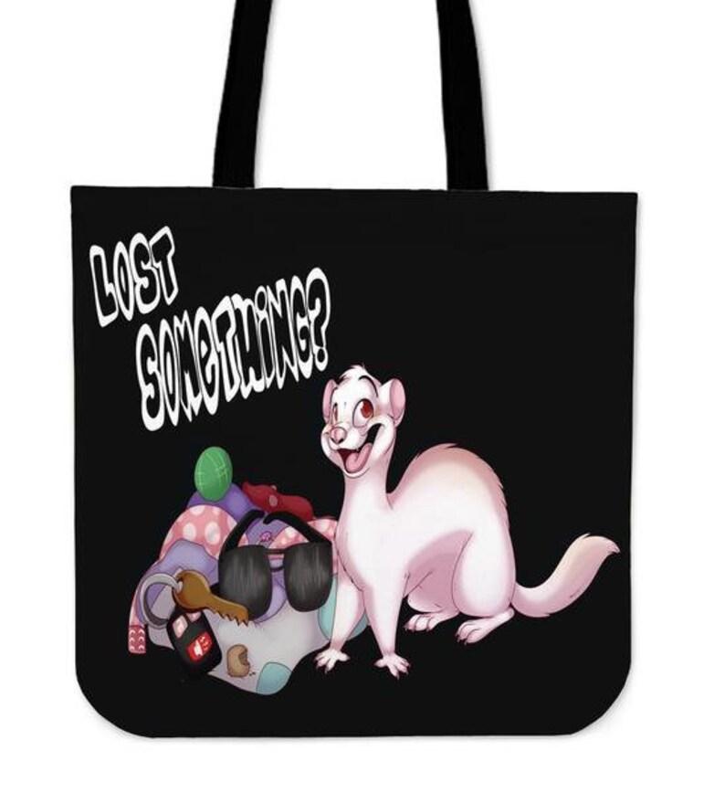 Ferret Lovers Canvas Tote Market Bag