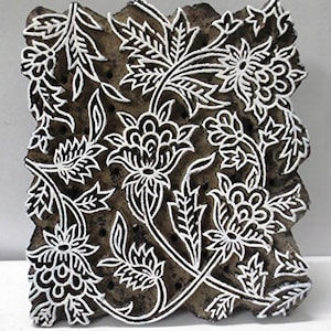 Wooden Textile Printing Block Hand Curved Vintage Fabric print Making Tools