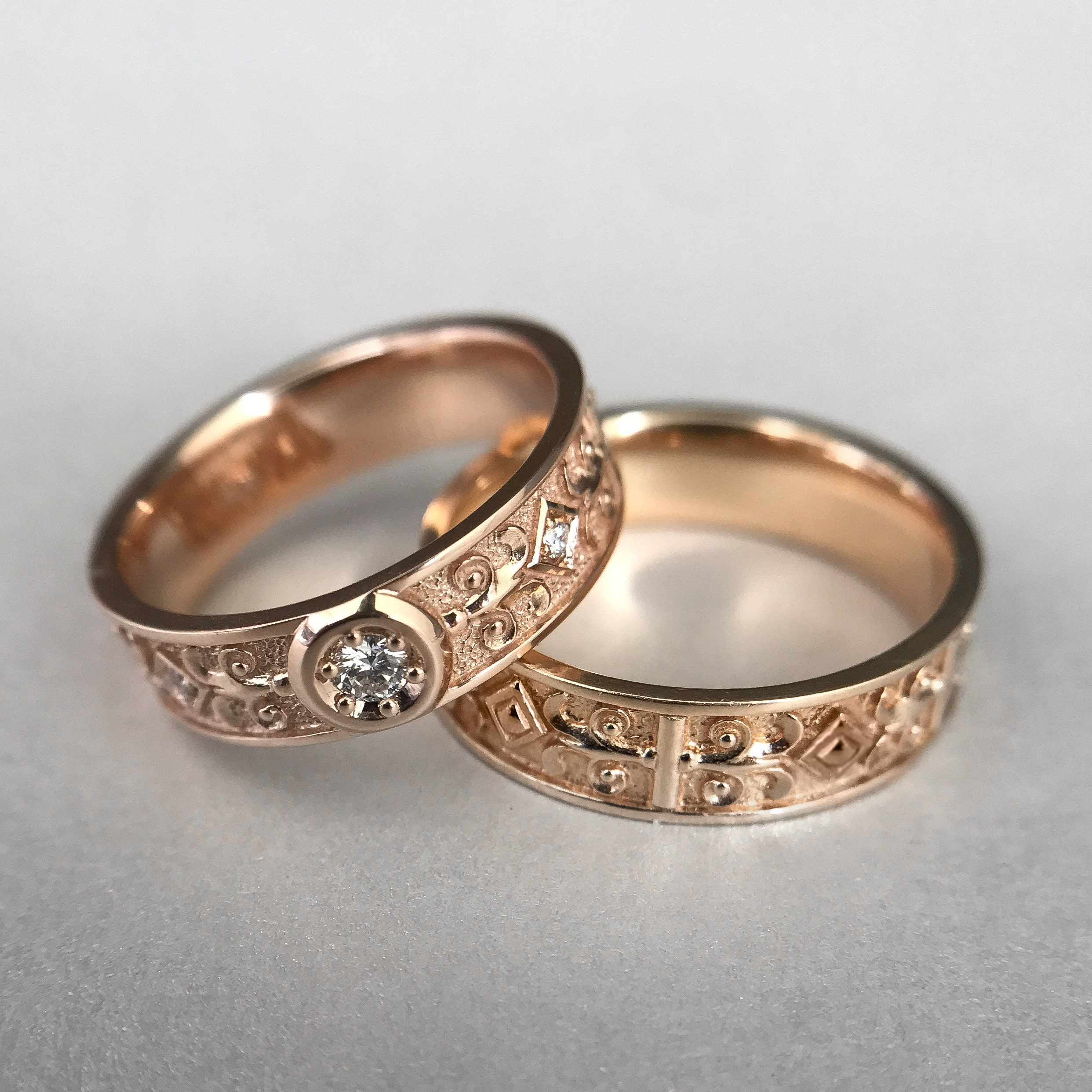 Used, Celtic Wedding Rings, Norse Ring, Viking ring, Gold pagan ring, Wedding Band Women for sale