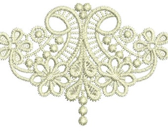 beautiful free standing lace machine Embroidery design by Sue Box Tama Lace