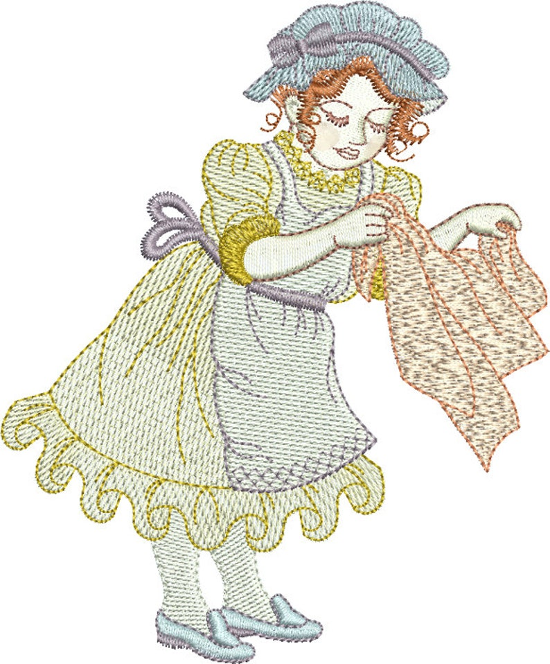 Hilda the homemaker machine embroidery design by Sue Box ...