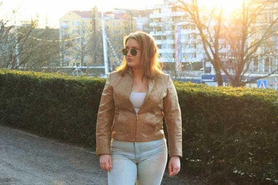 """Leather jacket """"snakeskin"""""""