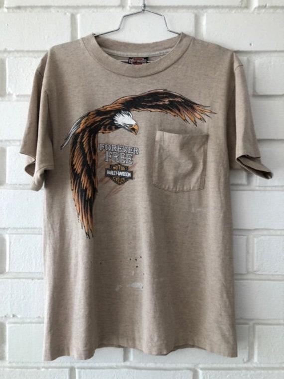 Original Harley Davidson Forever Free shirt, Rio Grande Valley, M