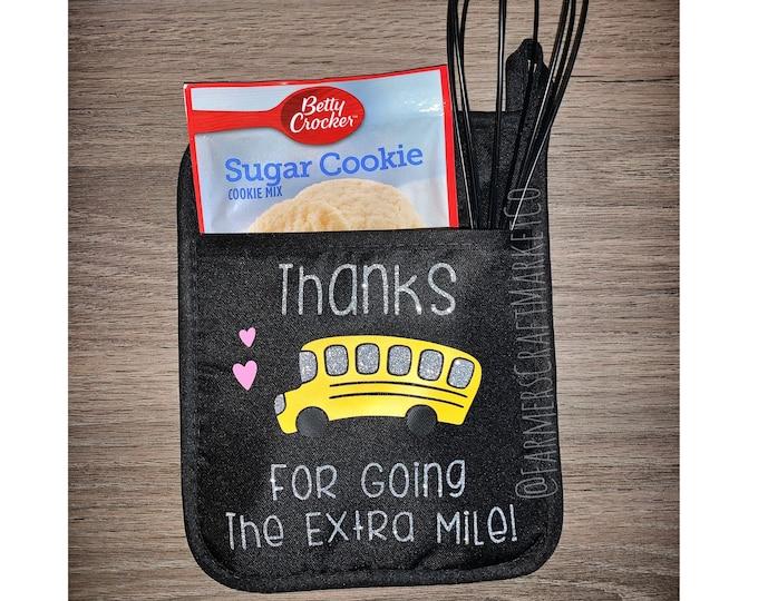 Bus driver pot holder Teacher appreciation gift Bus driver gift set Bus driver Christmas gift End of year gift Bus Driver gift