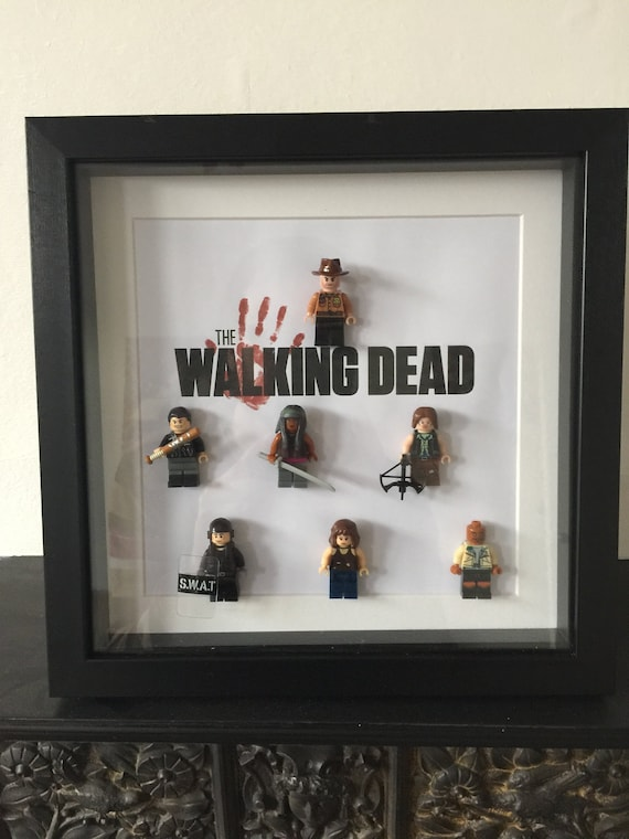 Lego The Walking Dead Minifigures Display Case Picture Frame mini figures