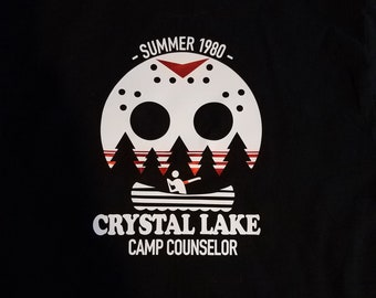 ae4eb25273c Summer 1980 Customizable Crystal Lake Camp Camp Counselor Pocket T shirt. -  Jasoon Vorhees- friday the13tht