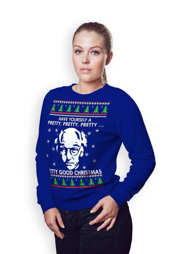 Larry David Ugly Christmas Sweater Crewneck Sweatshirt Pretty Etsy