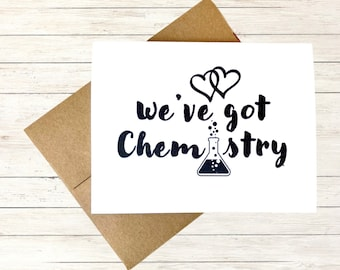 Funny Anniversary Card for Husband, Personalized Birthday Card for Boyfriend, Nerd Card, Chemistry Card, I love you Card, Back to School