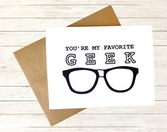 Nerd Card, Personalized Card for Teachers, Funny Best Friend Birthday Card, Chemistry Card, Back to School Card, I love You Card, Geek Gift