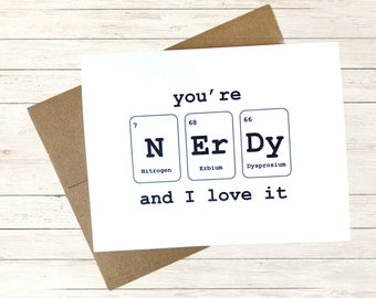 Periodic Table Card, Back to School Card, Personalized Card for Teachers, Funny Best Friend Birthday Card, Blank Card with Envelope