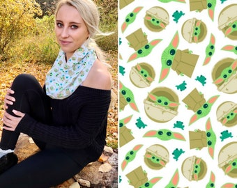 Grogu Gifts, Infinity Scarf, Circle Scarf, Geek Gifts for Her, Baby Yoda Birthday Gifts for Teen Girl, Starwars Gifts for Women, Unique Gift