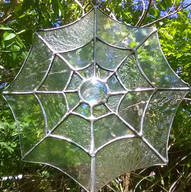 Stained Glass Spiderweb