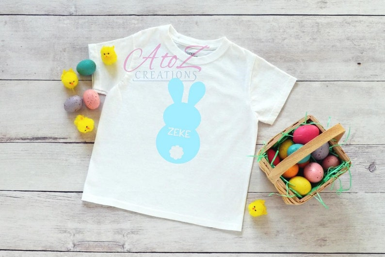 Personalized Easter bunny T-shirt shirt bodysuit gift for niece Gift for nephew grand kid gift first Easter baby shower gift first time mom