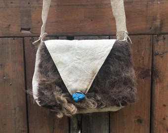 Elk Leather and Buffalo Hide Bag c99c0a6ade