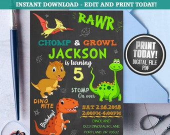 Dinosaur invitation etsy dinosaur invitation dinosaur birthday invitation dinosaur dinosaur invites invitation dinosaur birthday party printable invitation filmwisefo