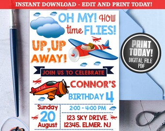 Super Wings Invitation Super Wings Birthday Party Super Etsy