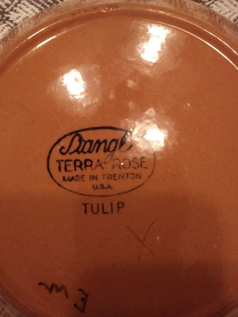 Vintage Stangl Terra Rose Tulip Yellow