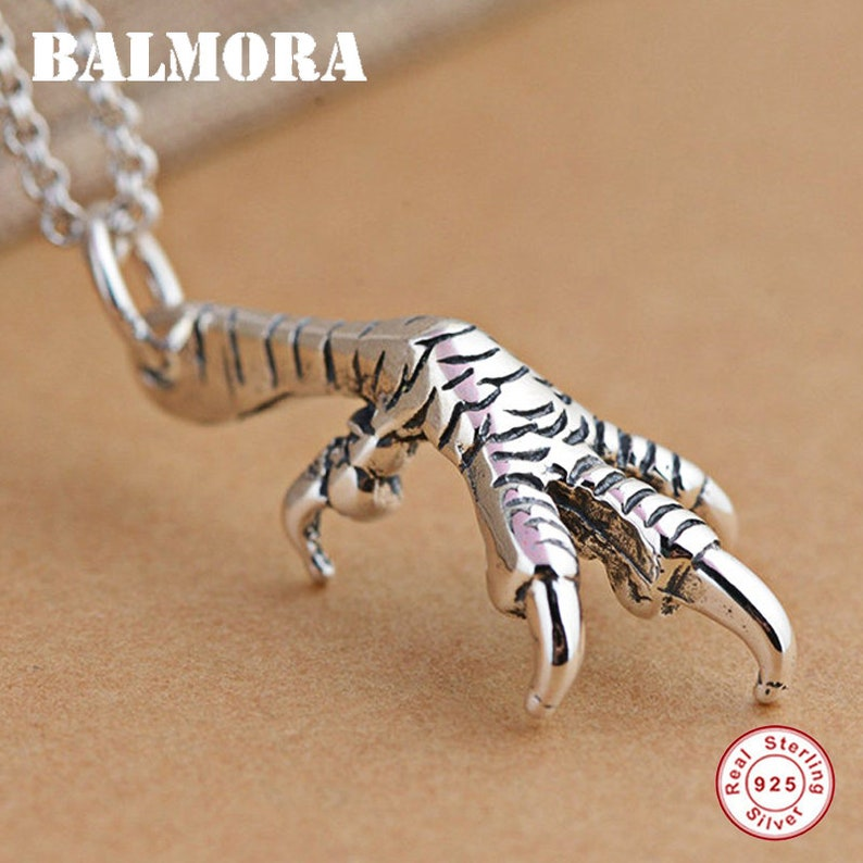 100/% Real 925 Sterling Silver Jewelry Eagle Talon Pendant for Necklace Silver Pendant for Women Men Accessories