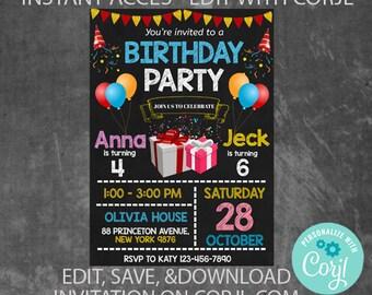 joint birthday etsy