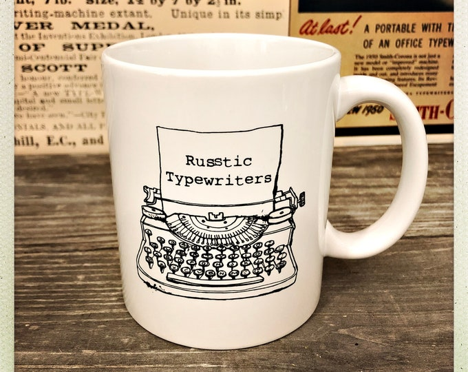 Russtic Typewriters Coffee Mug