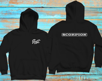 566e30040a0f8d Scorpion Hoodie adult and kids sizes colors to choose