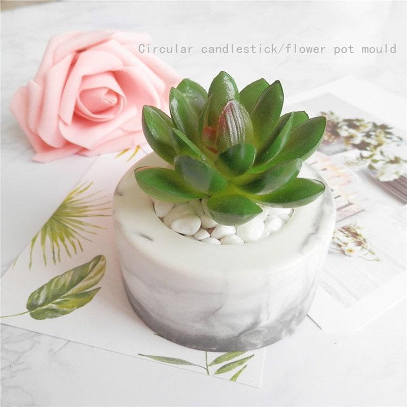 Mini Succulents Flower Pot Mould Concrete Silicone Vase Mold DIY Ice Cube Mould