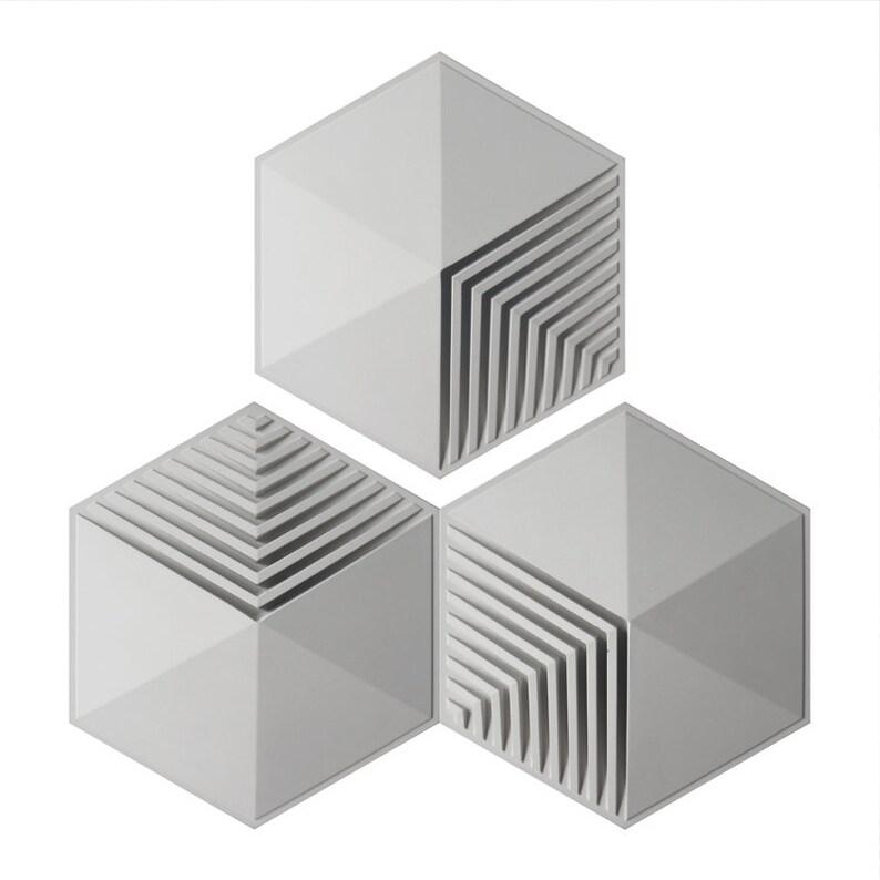 Concrete wall brick silicone mold cement wall tile silicone mold simple geometry tile mold