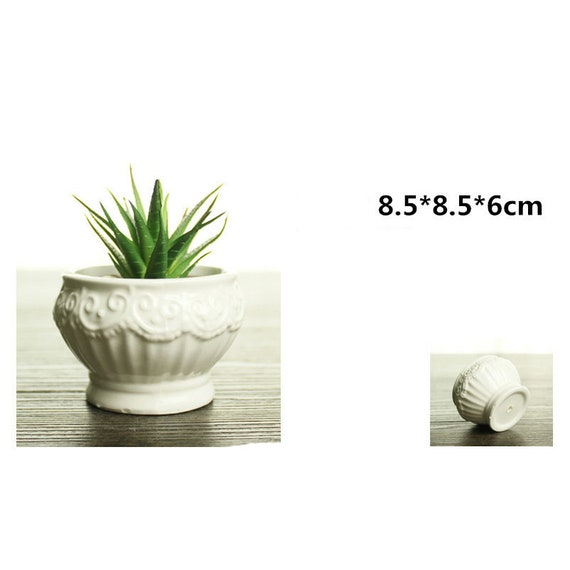 Silicone Flower Pot DIY Soap 3D Moulds Craft Succulent Concrete Plant Mold