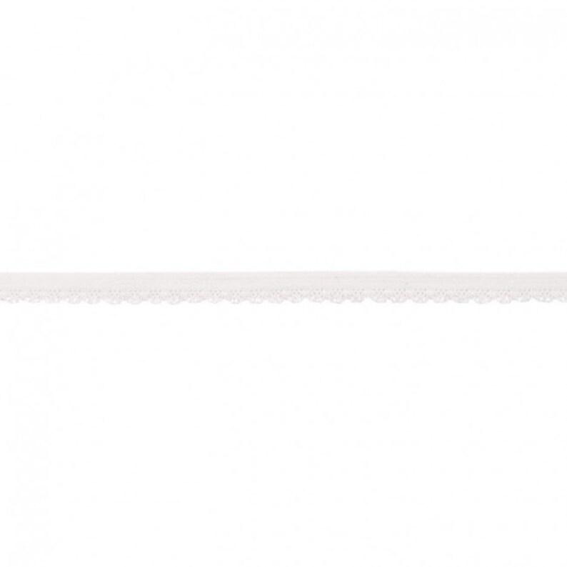 069EUR/m elastische Spitze mit Bogenkante weiß Wäschegummi image 0