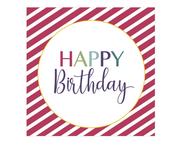 It's just a graphic of Happy Birthday Tag Printable in elegant