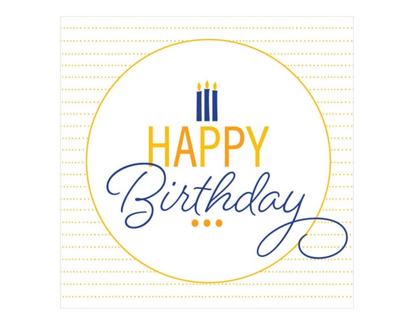 This is an image of Happy Birthday Tag Printable pertaining to editable