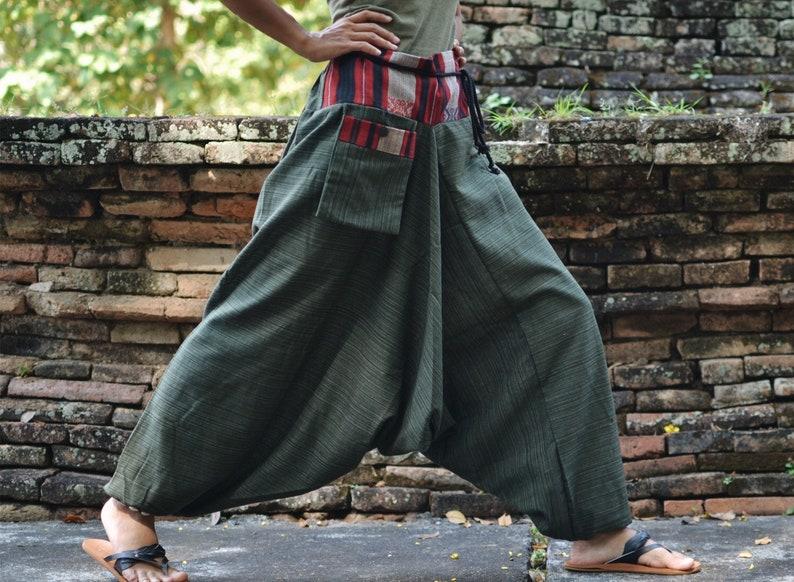 Black Harem Pants Bohemian Pants Baggy Harem Pants Design by Home289Studio