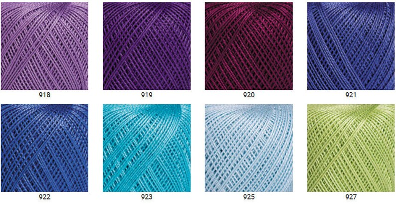 YarnArt IRIS Mercerized cotton 150 yards-20 grams Crochet cotton yarn  Irish lace super fine soft cotton yarn 100/% cotton