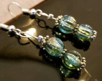 Classy Dangle Earrings with Stunning Czech Glass Beads