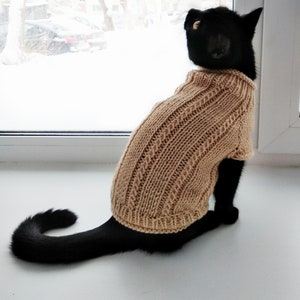 hand-knitted sphynx sweater Tank Top Moon and Stars sweater for dogs or cats knit sweater for cat
