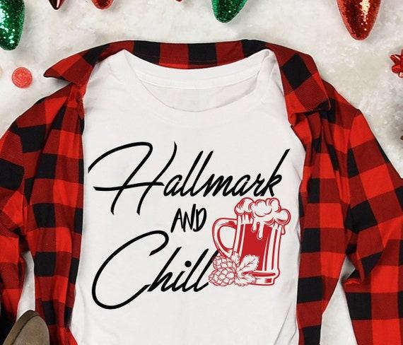 Hallmark Christmas Movie Shirt Black Hallmark Chill Etsy