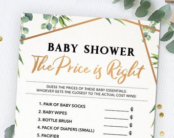 The Price is Right, Baby Shower Game, Baby Shower Activities, Baby Shower Games, Printable, Instant Download, Gender Neutral, Guessing Game
