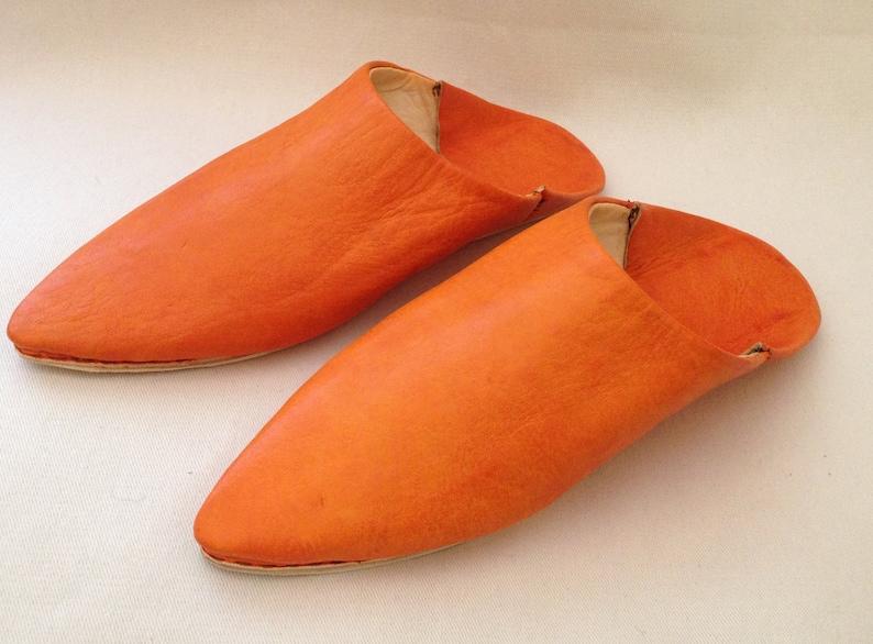 6a33fb9fb1606 Slippers Babouche Handmade For Women Ugg Slipper Leather Slippers, Baboush  Orange Slip Unisex