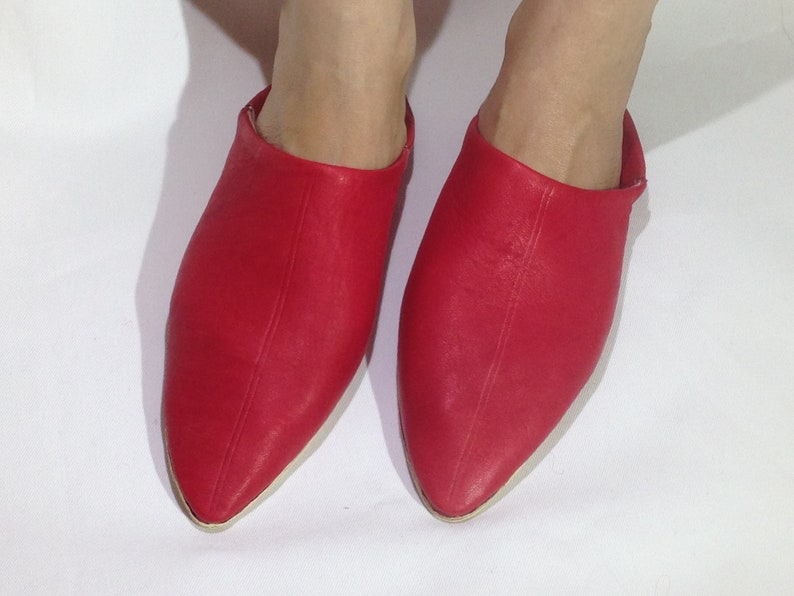 3510aa7f46d16 leather slipper Red ,babouche , Handmade , women slippers, house shoes  slippers ,Unisex moroccan slippers, Baboush All Sizes