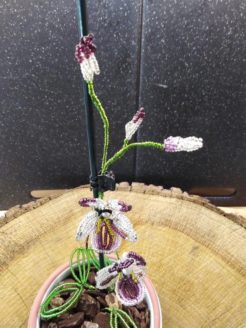 Orchid made of glass beads!!