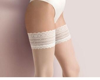 f000b90bfde White Wedding Stockings (475) - Bridal Stockings