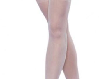 c56de48fb2e White Bridal Stockings - Attached Garter Belt - White Wedding Stockings
