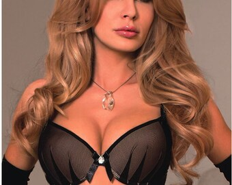 921cc234373c6 Luxury Black Push Up Bra - Matching Lingerie