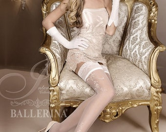 d6b36086879 White Or Ivory - Wedding Stockings - Bridal Stockings (256)
