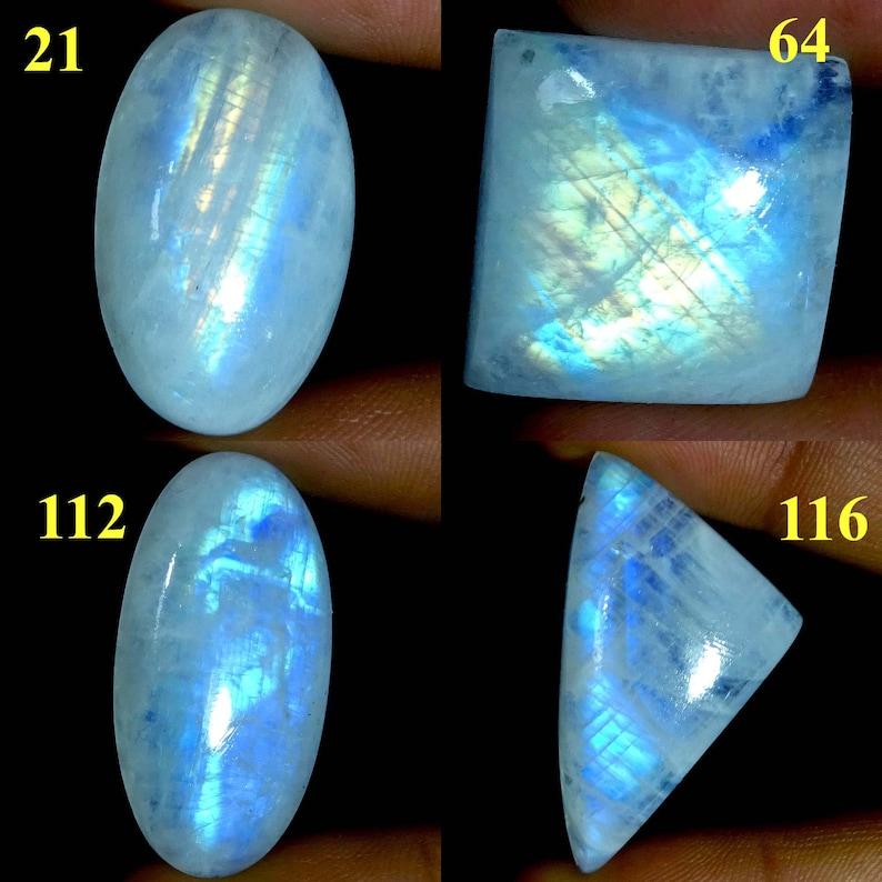 Loose Gemstone 8 Ct Blue Flashy Rainbow Moonstone 100/% Natural Oval Cabochon