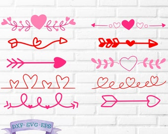 Heart Border Svg Etsy