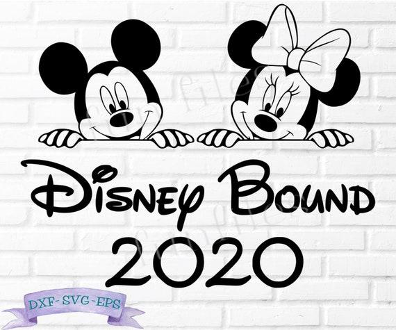 Disney Bound 2020 T Shirt Svg File Original Designdxf Etsy