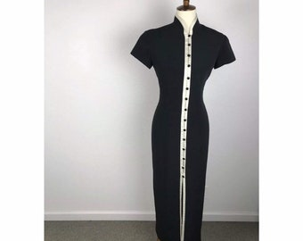 020086fa207 Evan Picone Color Block Buttons Lined Dress Sz 6 Vintage