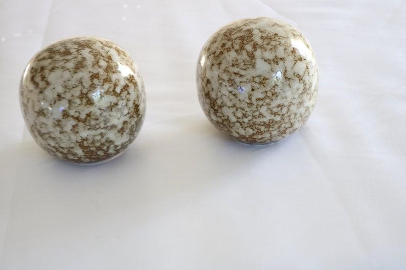 X 2 Marble Decoration Balls Etsy